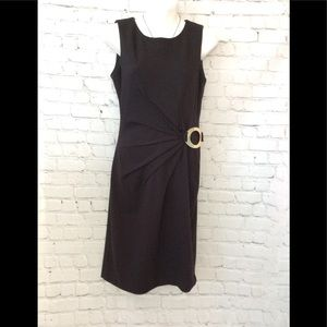Calvin Klein black mini dress women's size 4 EUC